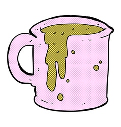 comic cartoon coffee mug vector image