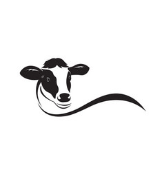 cow head design on white background easy editable vector image