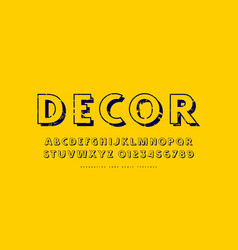decorative sans serif font in classic style vector image