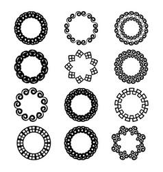 Decorative wreath-logo design vector