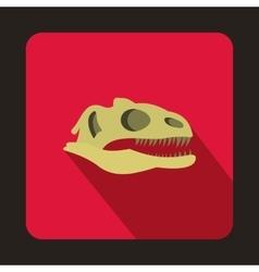 Dinosaur skull icon flat style vector image