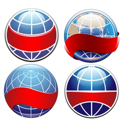 earth globe set vector image