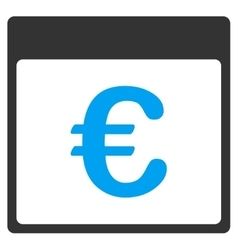 Euro Currency Calendar Page Toolbar Icon vector
