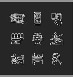 Facilities for people with disabilities chalk vector