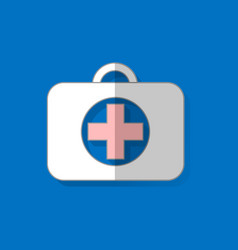 first aid kit healthcare hospital and medical vector image