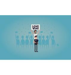 Gay pride vector image