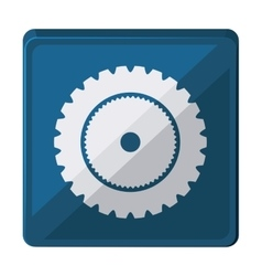 gear wheel isolated icon design vector image