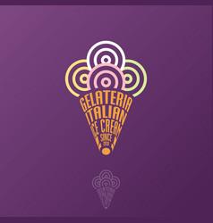 gelateria logo italian ice cream emblem typography vector image