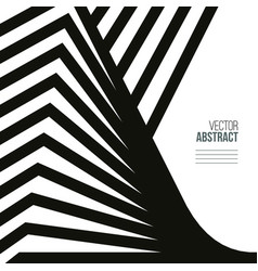 geometric black and white vector image