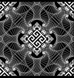 geometric line art tracery greek seamless vector image