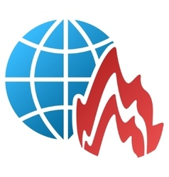 Global Fire Gradient Icon vector