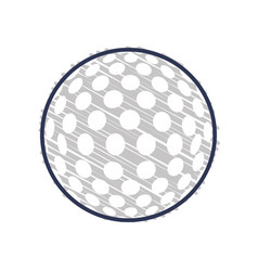 golf sport game vector image