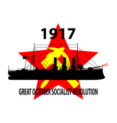 Great october socialist revolution russian vector