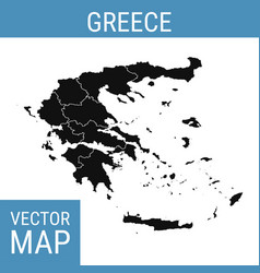 Greece map with title vector