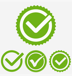 Green tick mark check mark icon tick sign green vector