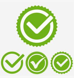 green tick mark check mark icon tick sign green vector image