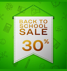 Grey pennant back to school sale thirty percent vector