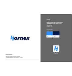 Hornex logo template design vector