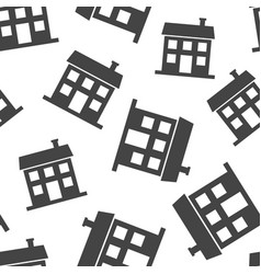 house seamless pattern background business flat vector image
