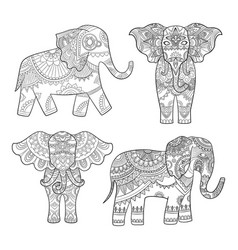 indian elephant decoration animal pattern for vector image