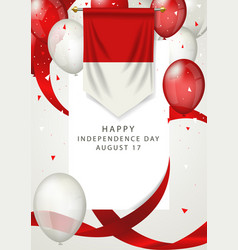 indonesia independence day on 17th august vector image
