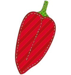Isolated Patchwork Red Pepper vector