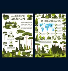 Landscape design company brochure vector