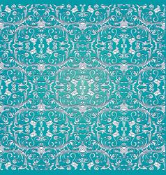 light blue damask seamless pattern vector image
