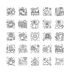 Line Icons With Detail 8 vector