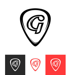Logo for guitar store on different backgrounds vector