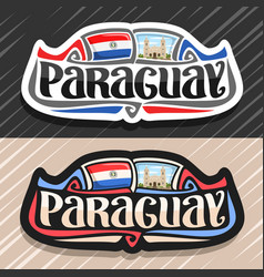 logo for paraguay vector image