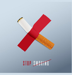 May 31st world no tobacco day concept design vector