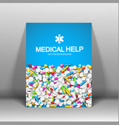 Medical help brochure vector