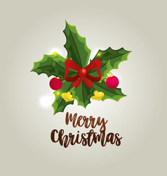 Merry christmas celebration and decoration design vector