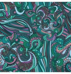 Multicolor Abstract ethnic swirl seamless pattern vector