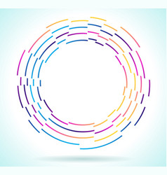 multicolored rainbow circle isolated on white vector image