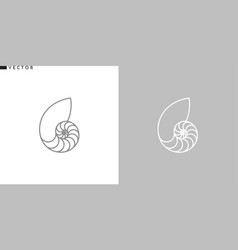 Nautilus shell outline style icon vector