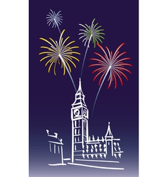 New Year in London vector image