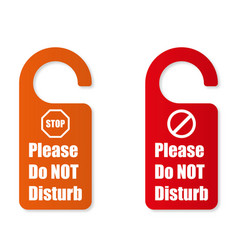 options sign please do not disturb vector image