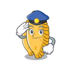 Police pastel character cartoon style vector