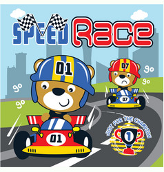 racing car cartoon vector image