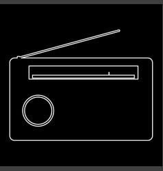 radio the white path icon vector image vector image
