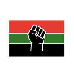 raised fist flag design black lives vector image