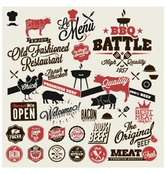 restaurant Design elements vector image