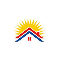 rohouse solar energy logo vector image