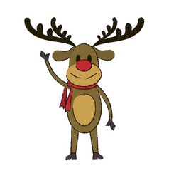 Rudolf christmas cartoon vector