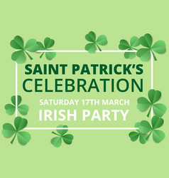 saint patricks day celebration vector image