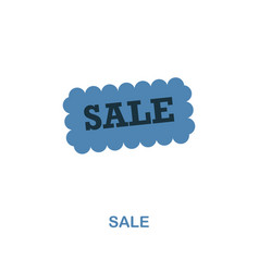sale icon monochrome style design from shopping vector image