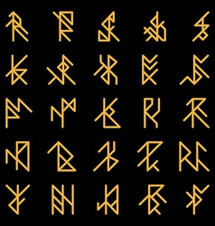 Set of abstract ancient runes vector
