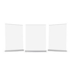 set wide roll up banners mockups isolated vector image